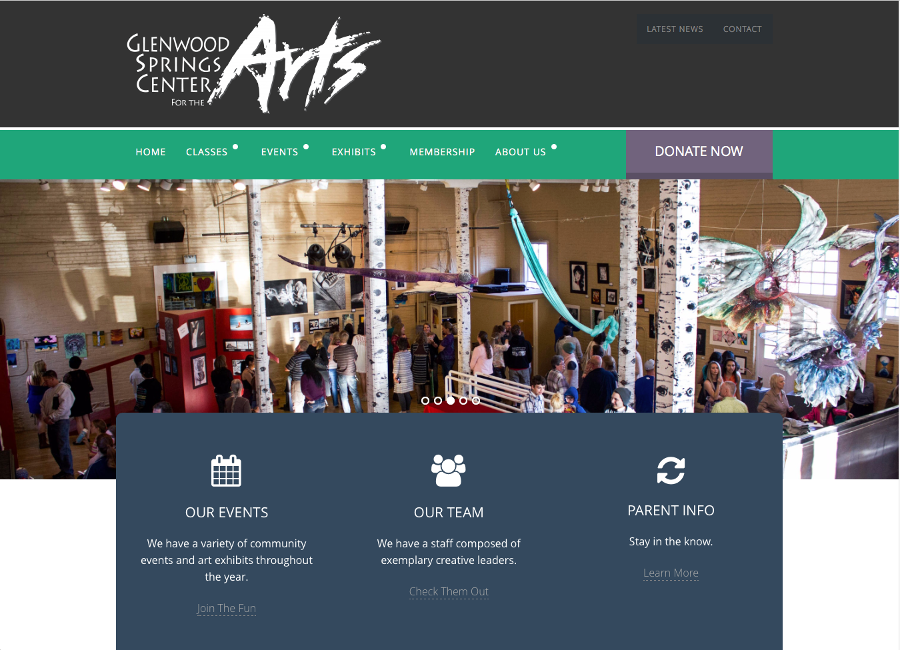 Glenwood Springs Center For The Arts - Non-Profit Website
