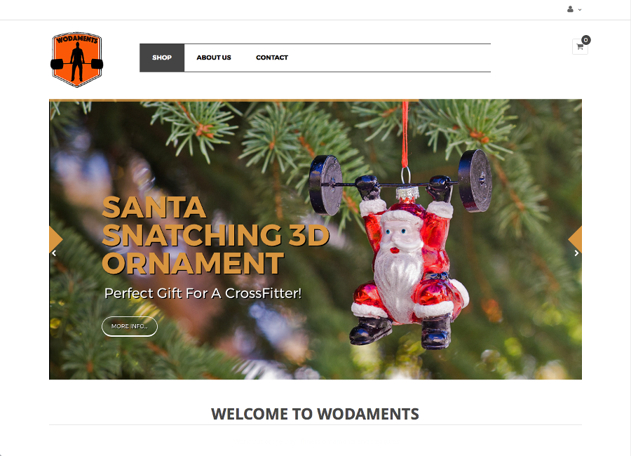Wodaments, Crossfit Ornaments - Custom E-Commerce Website